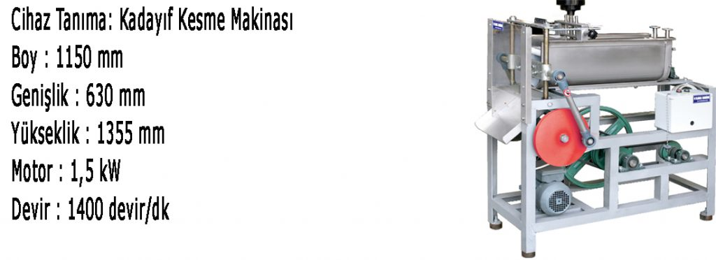 KADAYIF-KESME-MAKİNASI